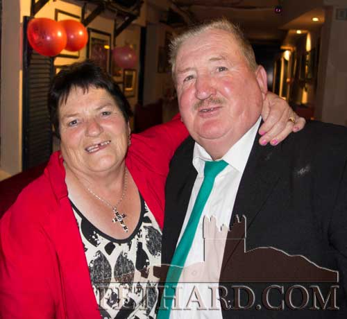 Seamus and Margaret Dorney celebrating their Ruby Wedding Anniversary at Lonergan's Bar
