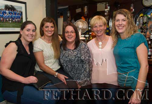 Members of Fethard Ladies Football Club photographed at the presentation of the Fethard Sports Achievement Award for September. L to R: Tracy Grant, Sarah Smyth, Sharon O'Meara, Sandra Spillane and Kay Spillane.
