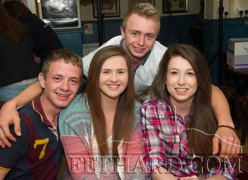 Photographed at the Fethard Sports Achievement Award presentation were L to R: Sam Taylor, Shannon O'Brien, Andy McBride and Aimee Pollard