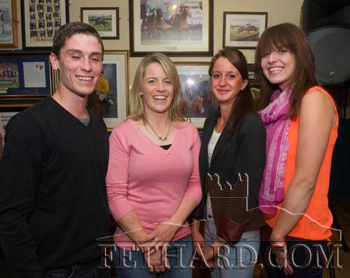 Photographed at the Fethard Sports Achievement Award presentation were L to R: Mark Rafferty, Evana McCutcheon, Olivia Briggs and Annie Madden.