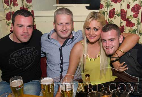 Photographed at the Benefit night at The Castle Inn for baby Danny Molloy are L to R: Conor Lonergan, Stephen Barnes, Christine Needham and Ross White.