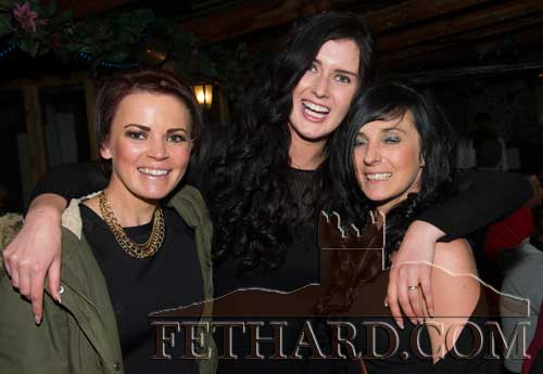 Photographed at the Benefit night at The Castle Inn for baby Danny Molloy are L to R: Katie Fleming, Gillian O'Dwyer and Rosemary Fleming.