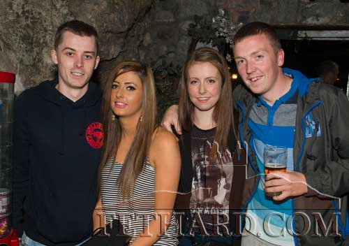 Photographed at the Benefit night at The Castle Inn, for baby Danny Molloy are L to R: Tommy Hayes, Kelly Fox, Amy Lyons and Adam Lyons.