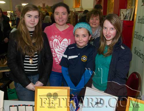 Helping out at the Fethard Historical Society stall at Tipperariana Book Fair are L to R: Sadhbh Horan, Kate O'Donnell, Rose O'Donnell, Marie Murphy and Sarah O'Donnell.