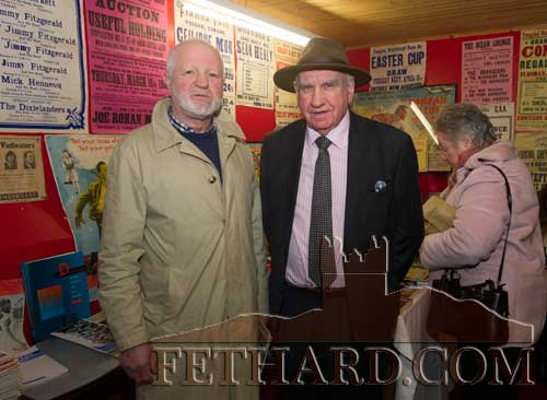 L to R: Pierce O'Loughlan (Carrick-on-Suir) and John Ryan (Clonmel) at the Fethard Book Fair
