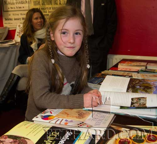 Tara Moquet, Kiltinan, having a look at some of the books on display at Fethard Book Fair
