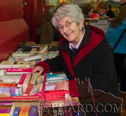 Mossie Hayes, Rathcoole, Fethard, browsing at Fethard Tipperariana Book Fair last Sunday
