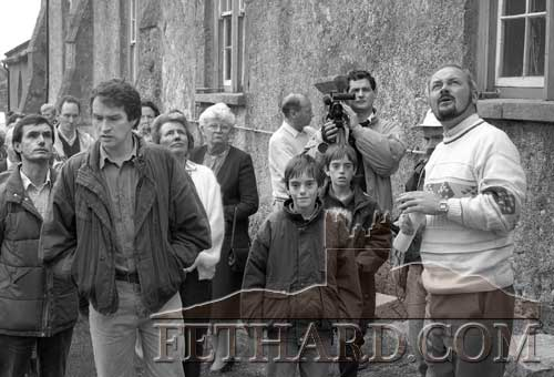 The late John Bradley (right) giving a walkabout in Fethard in June 1993