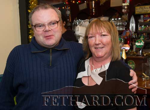 Enjoying the New Year in Butlers were L to R: Dermot Darcy and Anne Butler