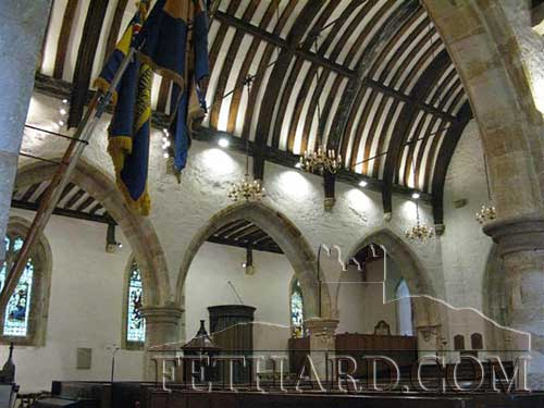 This is how the original roof (now hidden) at Holy Trinity Church of Ireland would have looked in the year 1489.