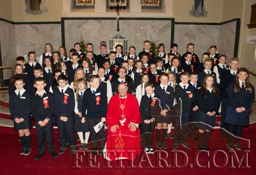 Children from the parish of Fethard & Killusty who were confirmed by Archbishop Dermot Clifford on Friday, March 14.