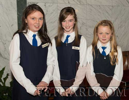 Photographed after receiving the Sacrement of Confirmation in Fethard were L to R: Megan Ryan, Kaylin O'Donnell and Annica O'Connor