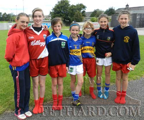 Some of the local girls photographed at Fethard GAA Cúl Camp held at Fethard GAA Park