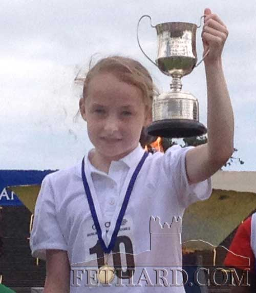 Kate O'Connell, grand-daughter of Bill O'Sullivan, Perryville, Fethard, photographed after she won the U10 100 metres event at the Dublin Community Games