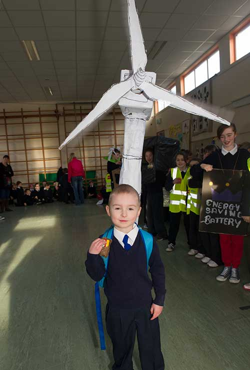 Pupils in their 'Energy' outfits at Holy Trinity National School, Fethard.