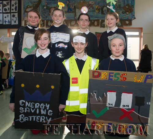 Pupils in their 'Energy' outfits at Holy Trinity National School Fethard