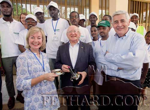 Kate Corcoran, Watergate, Fethard, photographed with President Michael D. Higgins, when he visited the refugee camps in Gambella, Ethiopia, where Kate is based as Concern's Country Director.