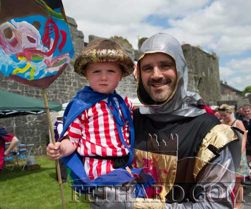 Paul Hayes and his son Billy taking part in he Medieval Parade