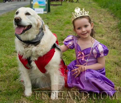 Emma Murphy and her dog 'Honey' at the Fethard Festival