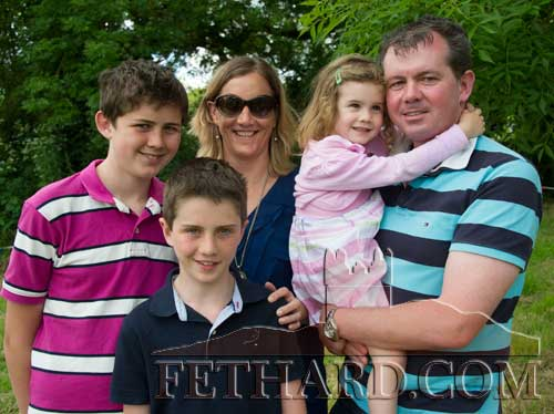 Michael and Karen O'Sullivan photographed at Fethard Festival with their children L to R: Michaél, Cillian and Aisling. Michael is Principal of Fethard Patrician Presentation Secondary School