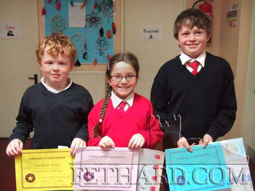Winners of Certificates of Merit at the Community Games Art competition were Andrew Wall, Isobel Maher and Robert Wall.