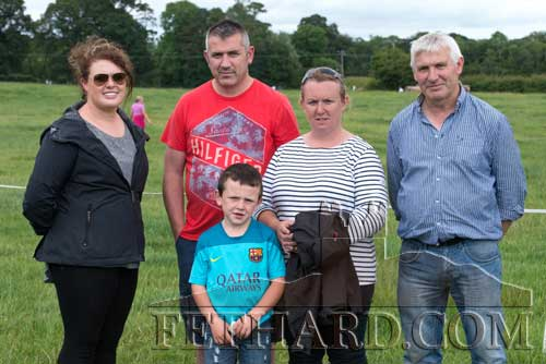 Photographed at the Grove Horse Trials are L to R: Emma Meagher, Martin Coen, Sam Coen, Lorraine Coen and Willie Gleeson.