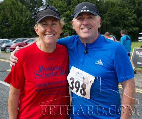 Siobhán Burke (Sladagh Cross, Fethard) and her brother Denis O'Connell taking part in the Boston Scientific Half Marathon in Clonmel