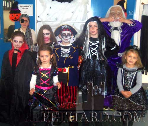 Winning costumes in the Holy Trinity National School's 'Best Halloween Costume' competition Annica O'Connor (6th Class), Ciarán McGuire (5th Class), Tamara Doyle (4th Class), Haydyn Molloy (3rd Class), Zoe Prout (2nd Class), Lily Murphy (1st Class), Leyla Barlaz (Senior Infants, and Emma Murphy (Junior Infants).