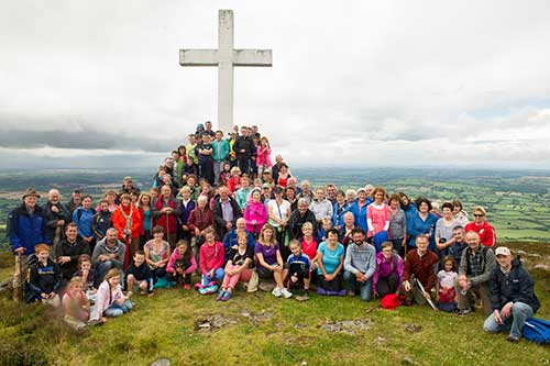 Annual pilgrimage to the Holy Year Cross on Slievenamon on Sunday, August 10, 2014. Next year on Sunday, August 15, will mark the 65th anniversary of our pilgrimage
