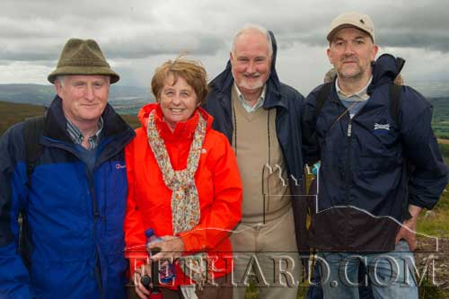 Photographed at the Holy Year Cross pilgrimage on Slievenamon are John and Ann Lee, Joe Lee and Kevin Ryan.