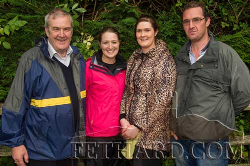Photographed after making the annual Holy Year Cross pilgrimage on Slievenamon are the O'Keeffe family of Larry, Mary, Ailish and William.