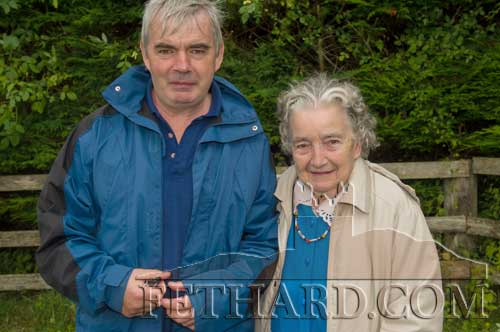 Sean and Cathy Aylward at the Holy Year Cross pilgrimage on Slievenamon.