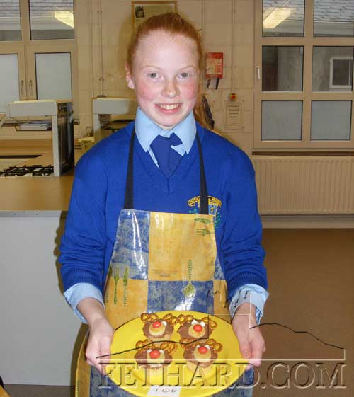 Emma Cronin from Coleman who was the runner-up in the Christmas Bake-Off in Patrician Presentation Secondary School. Emma is pictured here with her Reindeer Queen Cakes.