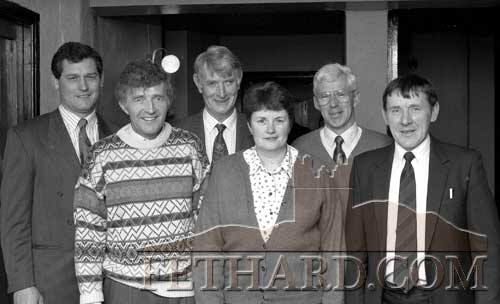 Fethard and Killusty Community Council's Ballroom Committee pictured at the official reopening function held on St. Patrick's Night, March 17, 1993. L to R: Peter Grant; Vincent Doocey; David O'Donnell; Chris O'Dwyer; Bobby Phelan and Joe Keane.