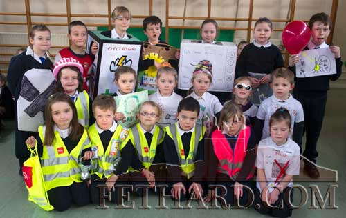 First Class pupils in their 'Energy' outfits at Holy Trinity N.S.