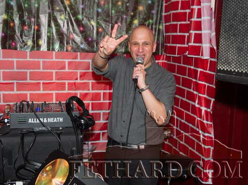 D.J. Roger Mehta providing the music on New Year's Eve at Lonergan's Bar