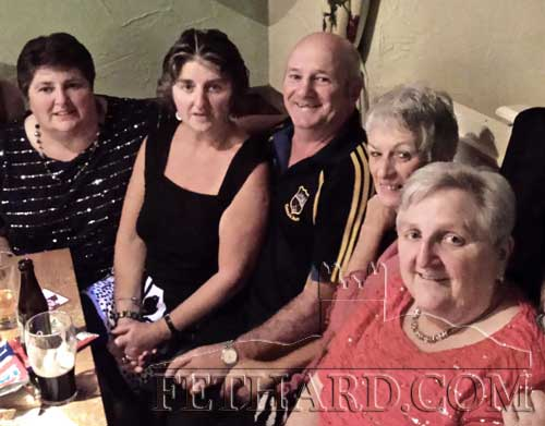 Members of the Molloy family photographed at a recent fundraiser held at the Castle Inn in Fethard. L to R: Rose McCarthy, Frances Tobin, Jack Hickey, Bernie Hickey and Margaret Molloy.