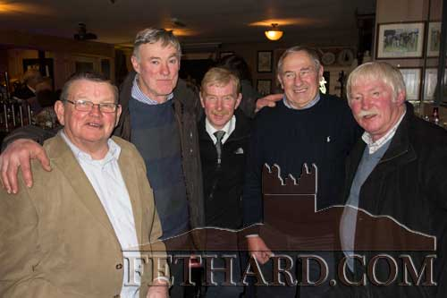 Photographed at The Village Inn, Moyglass on Valentine's Day are L to R: Tony Curran, John Lacey, Paddy Shelly, Mick Fahey and Tom Shelly