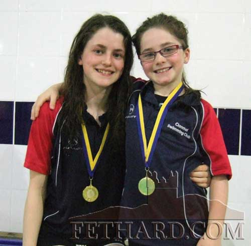Sisters Abaigeal and Isabelle Maher who take part in the Swimming Finals