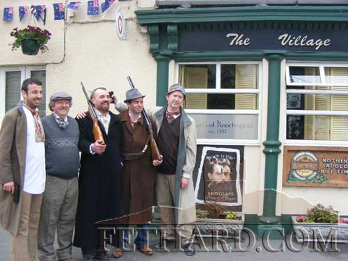 Photographed outside 'The Village Inn' in Moyglass at last year's Ned Kelly Festioval are L to R: Junior Tynan, Matty Tynan, Peter Tynan, Sean Tynan, Kevin O' Dwyer. This year's festival starts on this coming Friday night, July 25.