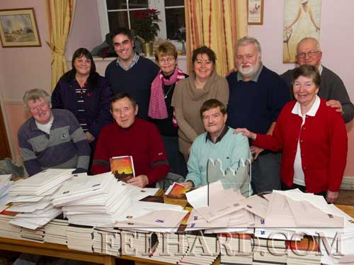 Helping with the postage and packing of this year's Fethard & Killusty Emigrant's Newsletter were Back L to R: Margaret O'Donnell, Ian O'Connor, Margaret Walsh, Monica Hickey, Brendan Kenny, Johnny Burke. Front L to R: Rory Walsh, Joe Keane, Brud Roche and Carol Kenny.
