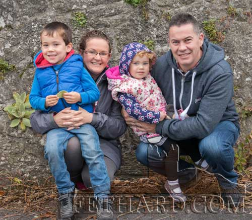 Daniel, Marguerite, Nessa and Stephen Gleeson, Fethard, photographed at the Opening Meet