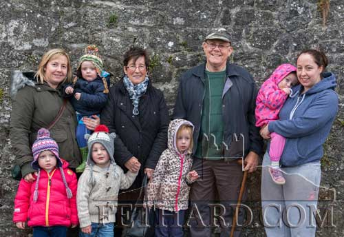 Jenny and Jim Fogarty photographed with family members at the Opening Meet in Fethard