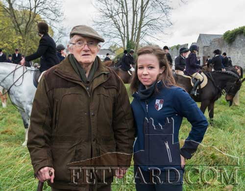 Tony Newport photographed with his granddaughter, Mary Jane Kearney, at the Opening Meet in Fethard