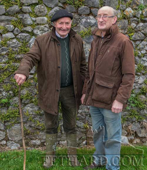 L to R: Tony Purcell and Willie O'Donnell photographed at the Opening Meet in Fethard