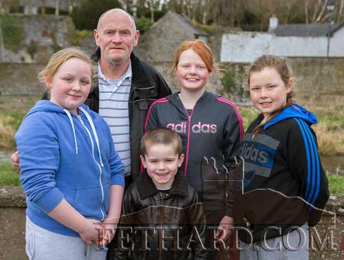 Tony McGarry, Woodvale Walk, photographed on their way to Fethard Playground with L to R: Natasha McGarry, Sean Thompson, Nicole Vaughan and Leanne McGarry.