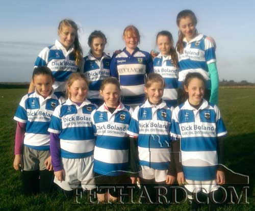 Fethard U13 girls team who travelled to Kilrush last Saturday for their third Munster 7's Rugby tournament
