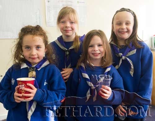 Photographed at the Scouts Remembrance Mass for John Cloonan are L to R: Orla Tynan, Olivia Ward, Jenny Roberts and Maria Brett