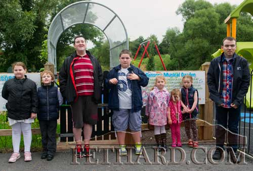 Photographed at the opening of the new Sensory Musical Garden at Fethard Playground are L to R: Dawn Cuddihy, Cian Cuddihy, Robin Blake, Cian Hurley, Sarah Cuddihy, Rosie Roche, Emma Roche and Killian Wall.