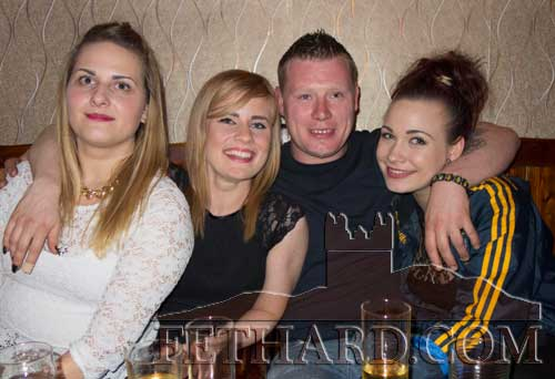 Enjoying the weekend in Fethard were L to R: Kasia Rogowska, Daria Paluch, Paddy Moynihan and Daiana Adamczak